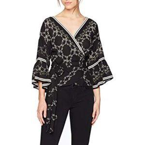 Max Studio silk wrap kimono top